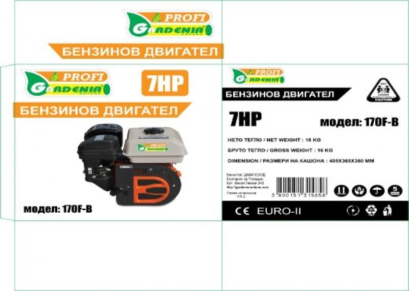 ДВИГАТЕЛ БЕНЗИНОВ PROFI 170F-B